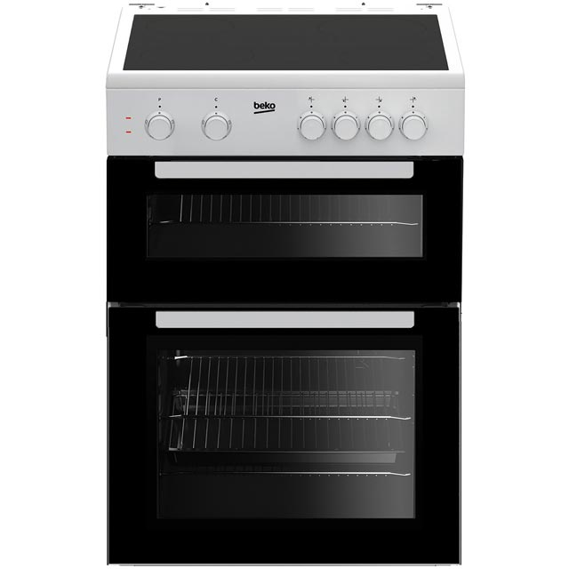 Beko KTC611W 60cm Electric Cooker with Ceramic Hob - White - A Rated - KTC611W_WH - 1