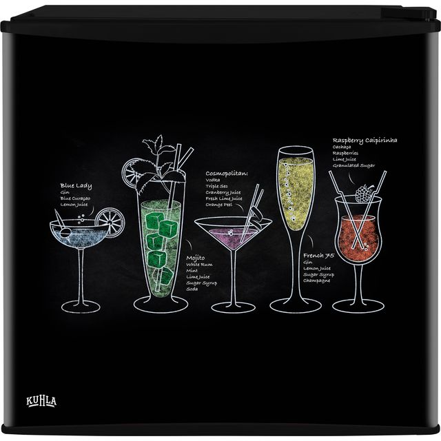 Kuhla KTTF4BGB-1001 Table Top Fridge with Ice Box - Cocktail Design - A+ Rated - KTTF4BGB-1001_CDE - 1