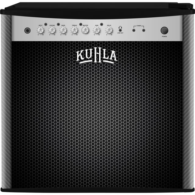 Image of Kuhla KTTF4BGB-1004 Mini Fridge with Ice Box - Amp/Speaker Design - A+ Rated