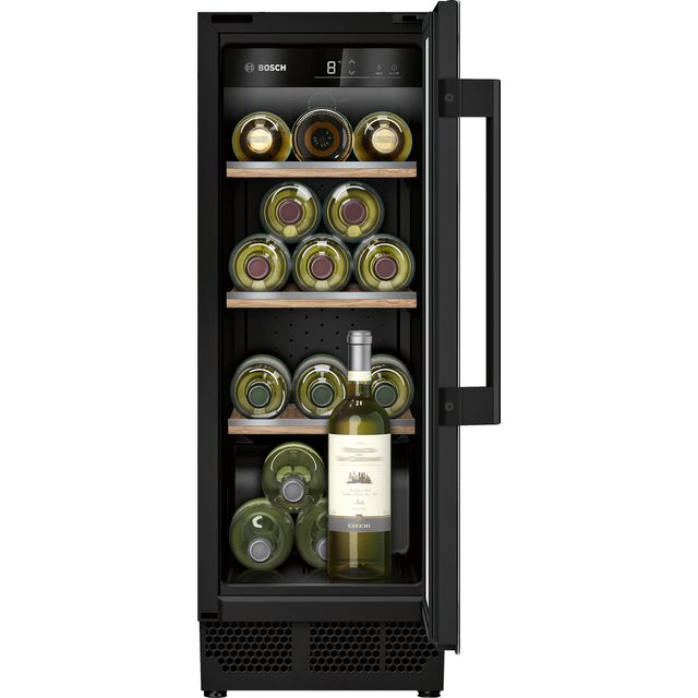 Bosch KUW20VHF0G Built In Wine Cooler - Black - F Rated