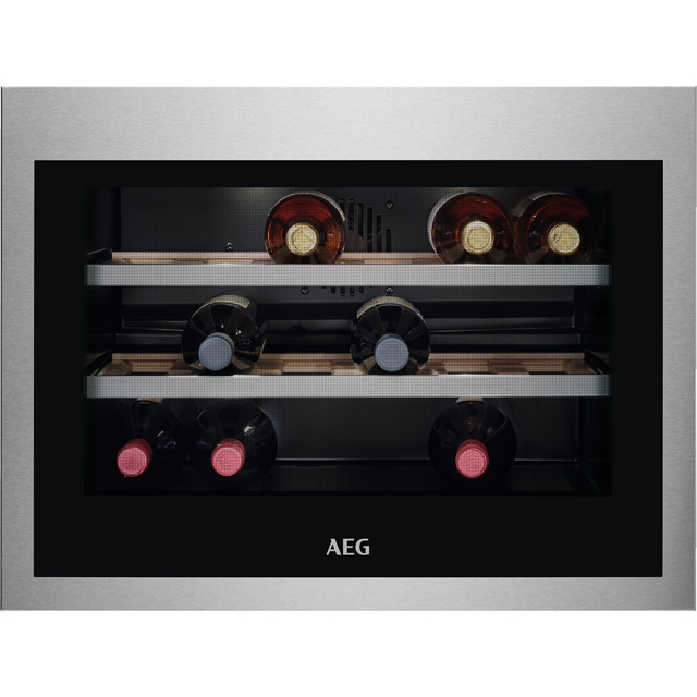 AEG KWE884520M Built In Wine Cooler - Stainless Steel - A++ Rated