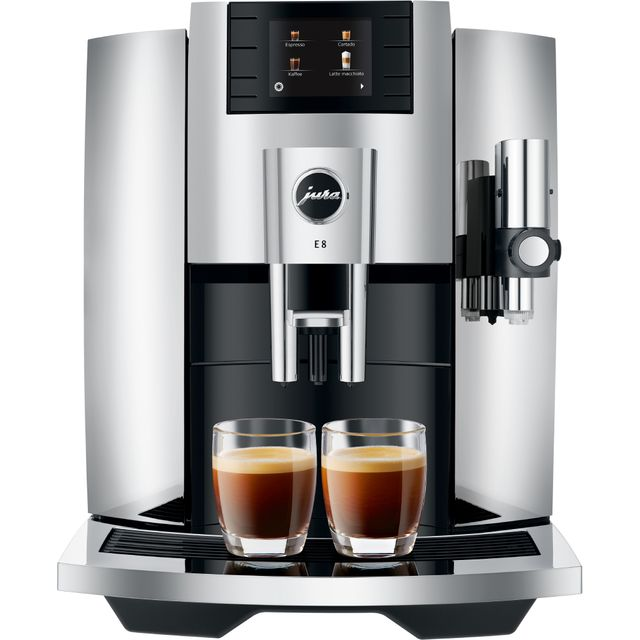 Jura E8 15363 Bean to Cup Coffee Machine - Stainless Steel