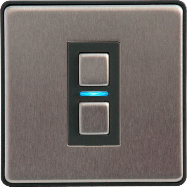 Lightwave Smart Series Dimmer (1 Gang) - Stainless Steel - L21 - 1