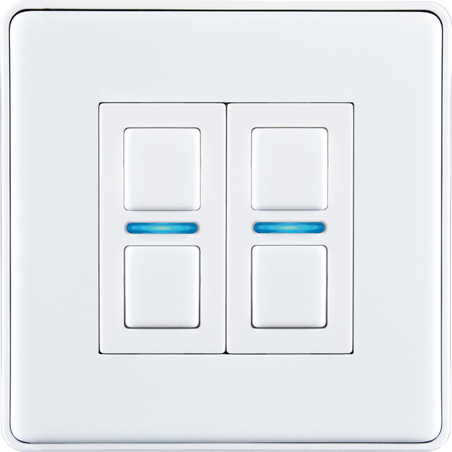 Lightwave Smart Series Dimmer (2 Gang) - L22WH - L22WH - 1