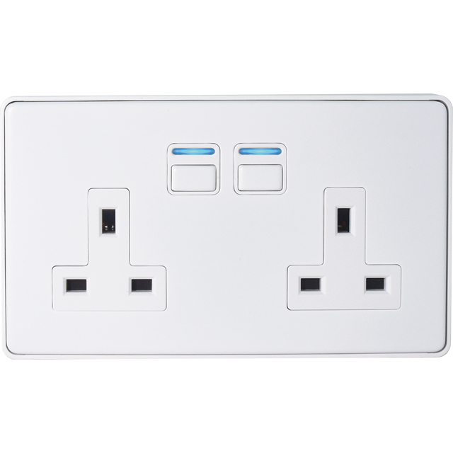 Lightwave Smart Series Socket (2 Gang) White - L42WH - L42WH - 1