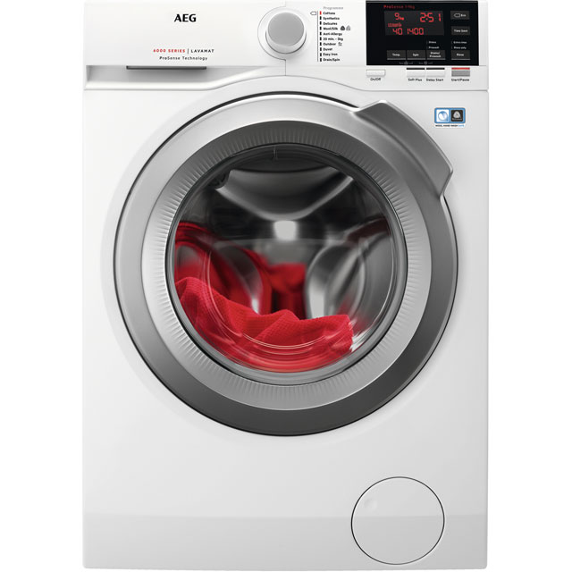 AEG ProSense Technology L6FBG942R Free Standing Washing Machine in White
