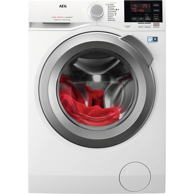 AEG ProSense Technology L6FBG942R 9Kg Washing Machine with 1400 rpm - White - A+++ Rated