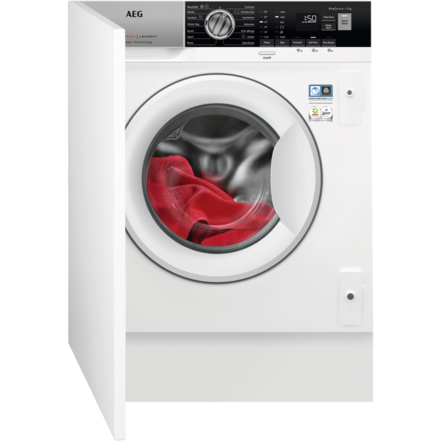 AEG ProSteam Technology L7FE7461BI Built In 7Kg Washing Machine - White - L7FE7461BI_WH - 1
