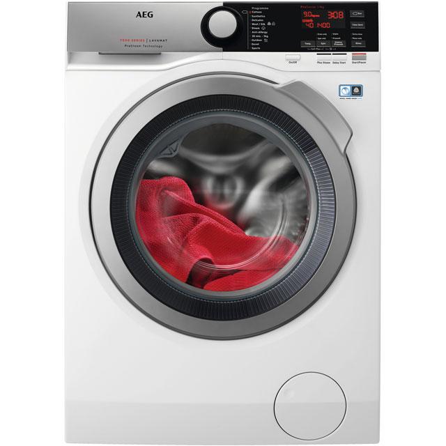 AEG ProSteam Technology L7FEE965R Free Standing Washing Machine in White