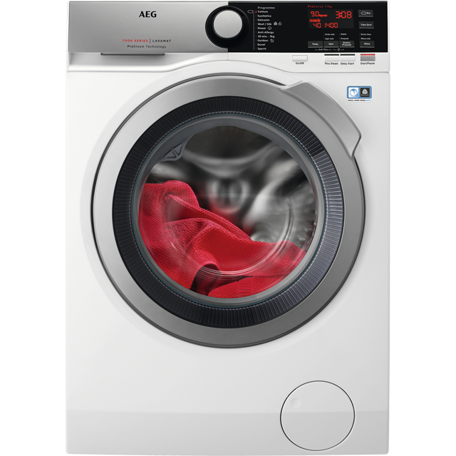 AEG ProSteam Technology L7FEE965R 9Kg Washing Machine with 1600 rpm - White - A+++ Rated - L7FEE965R_WH - 1