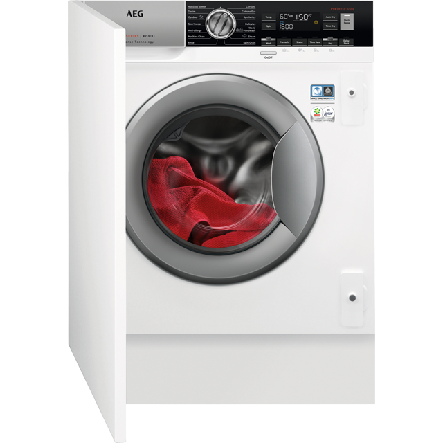 AEG L7WC8632BI Integrated 8Kg / 4Kg Washer Dryer with 1600 rpm - A Rated