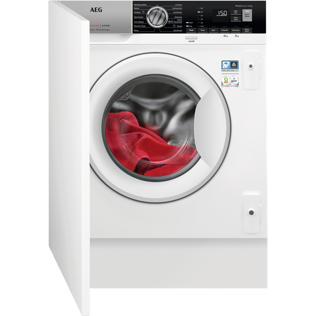 AEG L7WE7631BI Built In 7Kg / 4Kg Washer Dryer - White - L7WE7631BI_WH - 1