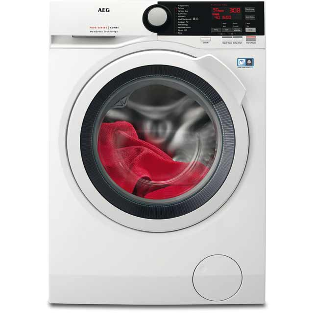AEG DualSense Technology L7WEE861R Washer Dryer - White - L7WEE861R_WH - 1