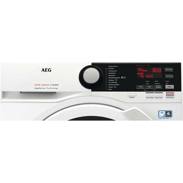 AEG DualSense Technology L7WEE861R Washer Dryer - White - L7WEE861R_WH - 2