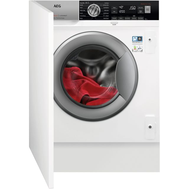 AEG OkoMix Technology L8FC8432BI Integrated 8Kg Washing Machine with 1400 rpm - A+++ Rated - L8FC8432BI_WH - 1