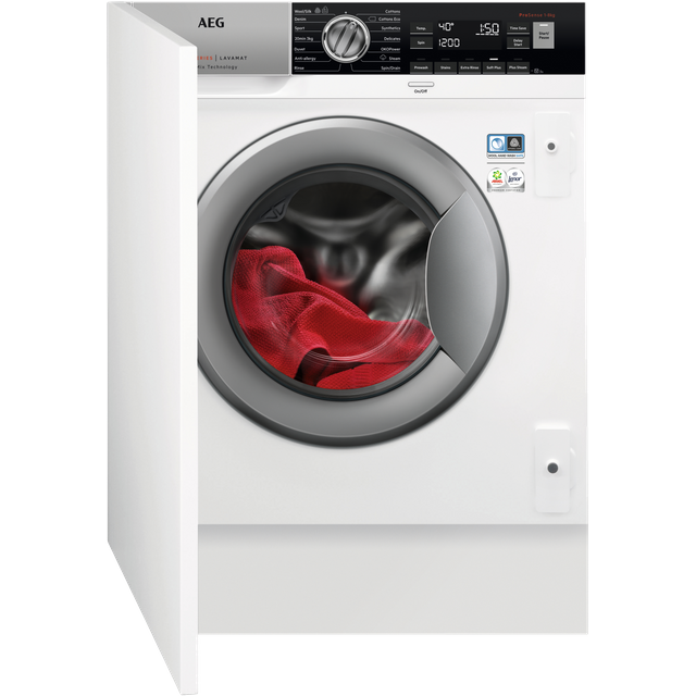 AEG OkoMix Technology L8FC8432BI Integrated 8Kg Washing Machine