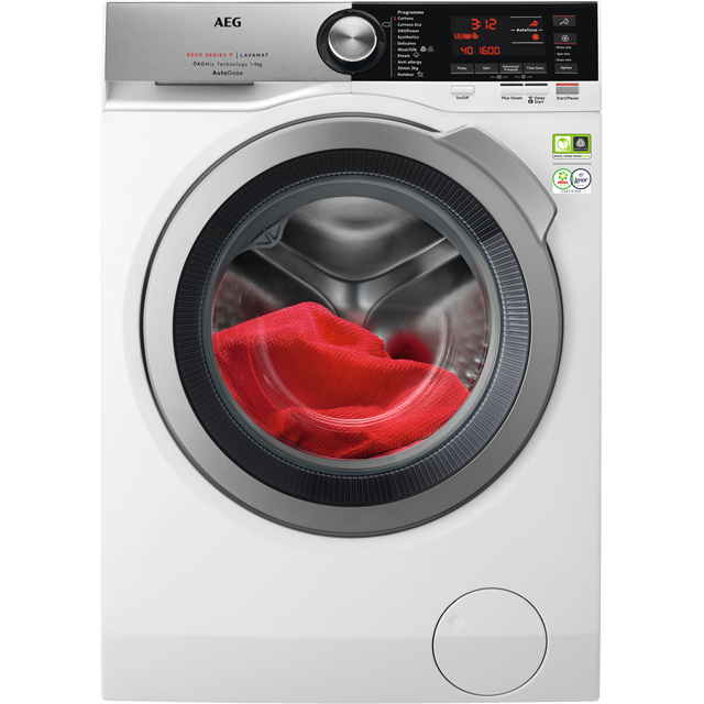 AEG OkoMix Technology L8FEC966CA Wifi Connected 9Kg Washing Machine with 1600 rpm - White - A+++ Rated