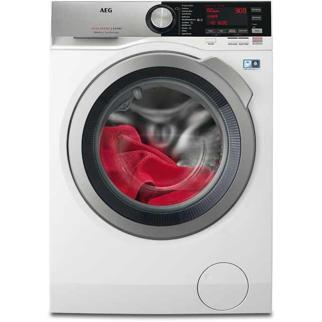 AEG OkoMix Technology L8WEC166R Free Standing Washer Dryer in White
