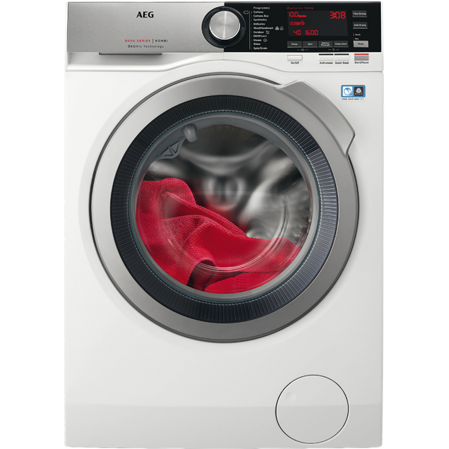 AEG OkoMix Technology L8WEC166R 10Kg / 6Kg Washer Dryer with 1550 rpm - White - A Rated - L8WEC166R_WH - 1