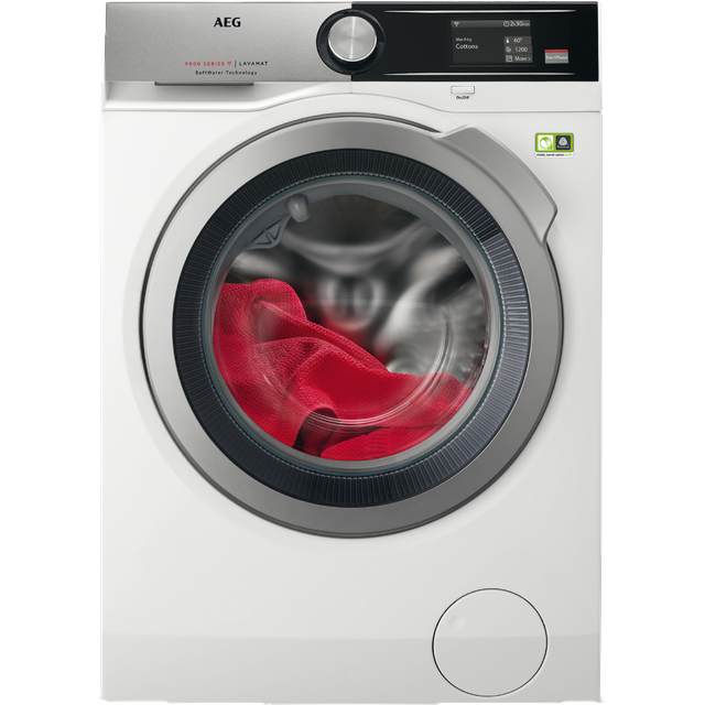 AEG Softwater Technology L9FEA966C Wifi Connected 9Kg Washing Machine with 1600 rpm - White - A+++ Rated - L9FEA966C_WH - 1