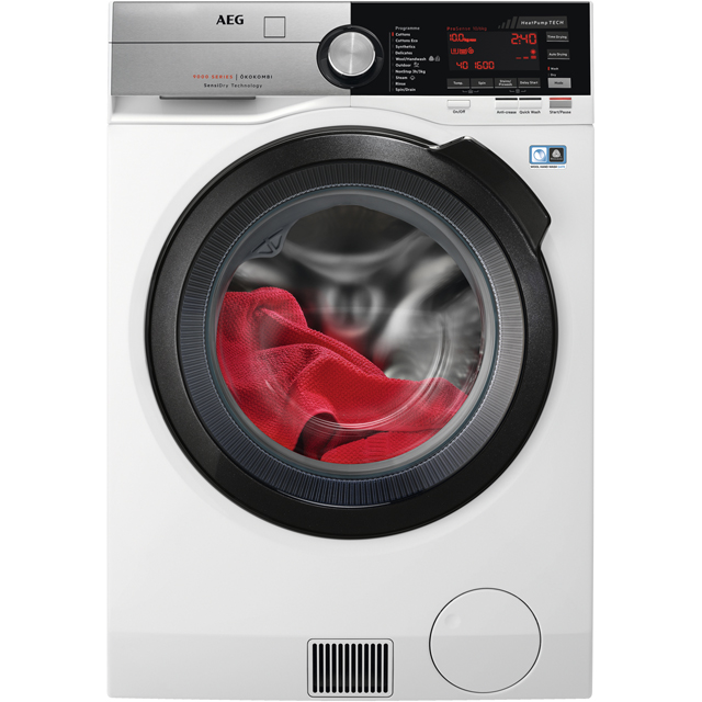 AEG SensiDry Technology L9WEC169R Washer Dryer - White - L9WEC169R_WH - 1