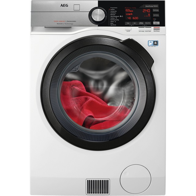 AEG SensiDry Technology L9WEC169R 10Kg / 6Kg Washer Dryer with 1550 rpm - White - A Rated - L9WEC169R_WH - 1