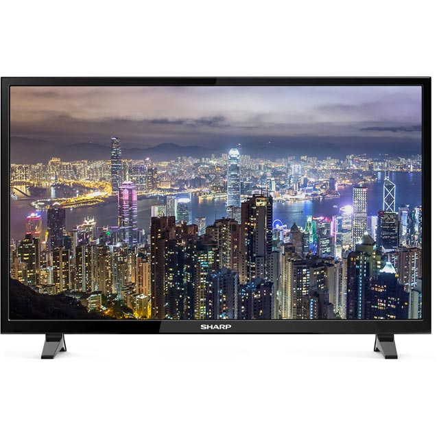 "Sharp 32"" Smart TV with Freeview Play - Black - [A+ Rated]"