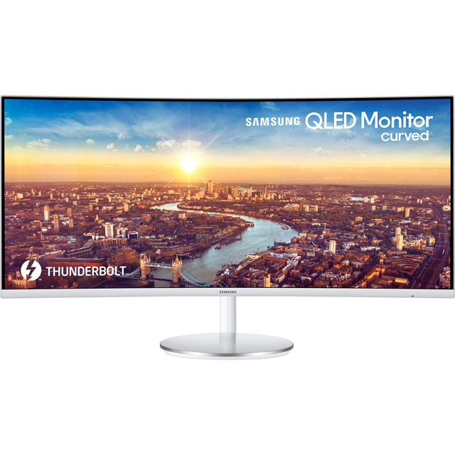 "Samsung C34J791 Full HD 34"" 100Hz Curved Monitor - White / Silver - LC34J791WTUXEN - 1"
