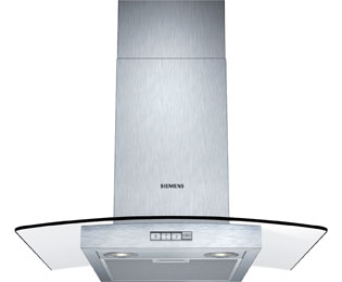 Siemens IQ-100 LC64GB522B 60 cm Chimney Cooker Hood - Stainless Steel / Glass - D Rated