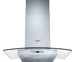 Siemens IQ-500 LC68GB542B 60 cm Chimney Cooker Hood - Stainless Steel / Glass