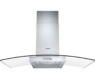Siemens LC94GB522B 90 cm Chimney Cooker Hood - Stainless Steel / Glass - D Rated