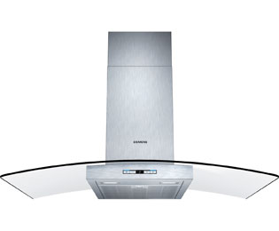 Siemens IQ-500 LC98GB542B 90 cm Chimney Cooker Hood - Stainless Steel / Glass - A+ Rated