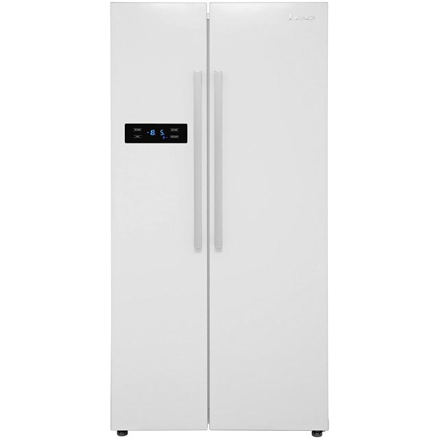 Lec AFF90185W American Fridge Freezer - White - A+ Rated