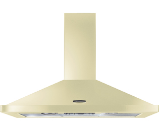 Rangemaster 110 cm Chimney Cooker Hood - Cream / Chrome - E Rated