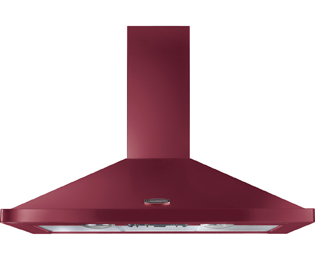Rangemaster LEIHDC110CY/C Built In Chimney Cooker Hood - Cranberry / Chrome - LEIHDC110CY/C_CY - 1
