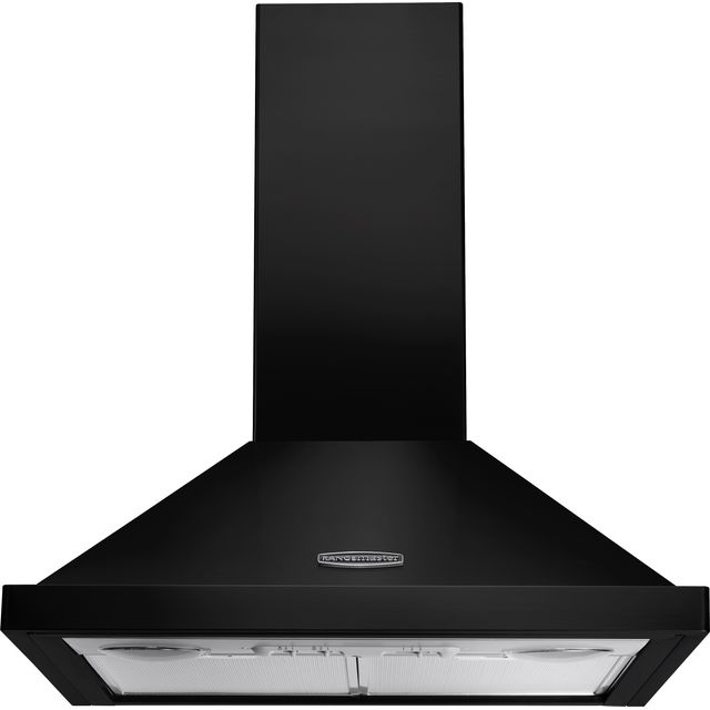Rangemaster LEIHDC60BC Built In Chimney Cooker Hood - Black / Chrome - LEIHDC60BC_BK - 1
