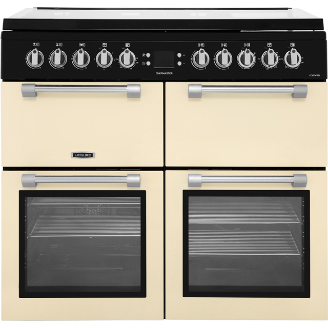 Leisure Chefmaster CC100F521C 100cm Dual Fuel Range Cooker - Cream - A/A/A Rated - CC100F521C_CR - 1