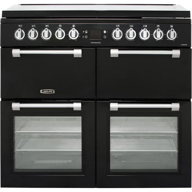 Leisure Chefmaster CC100F521K 100cm Dual Fuel Range Cooker - Black - A/A/A Rated
