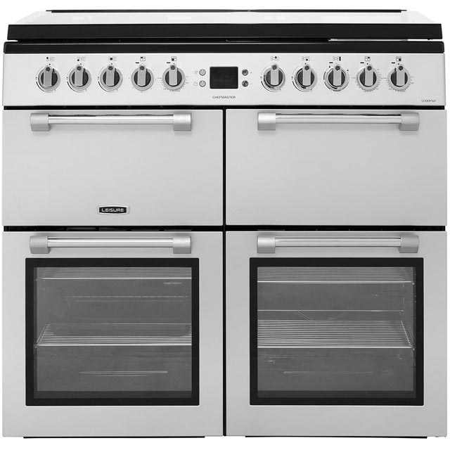 Leisure Chefmaster CC100F521S 100cm Dual Fuel Range Cooker - Silver - A/A Rated