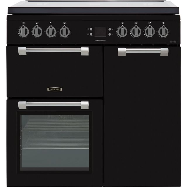Leisure Chefmaster CC90F531K 90cm Dual Fuel Range Cooker - Black - A/A/A Rated - CC90F531K_BK - 1