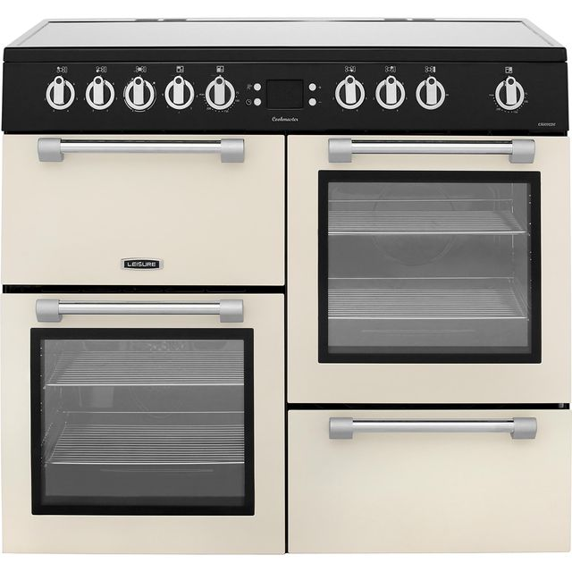 Leisure Cookmaster CK100C210C 100cm Electric Range Cooker with Ceramic Hob - Cream - A/A Rated - CK100C210C_CR - 1