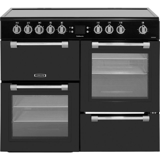 Leisure Cookmaster CK100C210K 100cm Electric Range Cooker with Ceramic Hob - Black - A/A Rated - CK100C210K_BK - 1