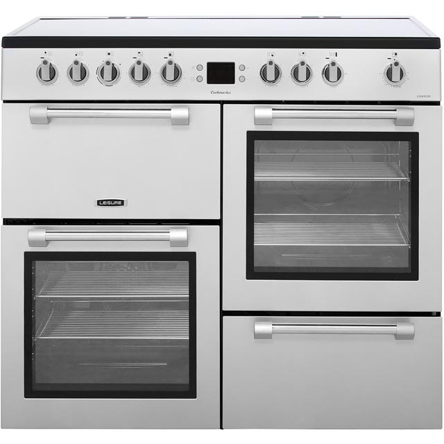 Leisure Cookmaster CK100C210S 100cm Electric Range Cooker with Ceramic Hob - Silver - A/A Rated - CK100C210S_SI - 1