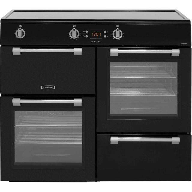 Leisure Cookmaster CK100D210K 100cm Electric Range Cooker with Induction Hob - Black - A/A Rated - CK100D210K_BK - 1