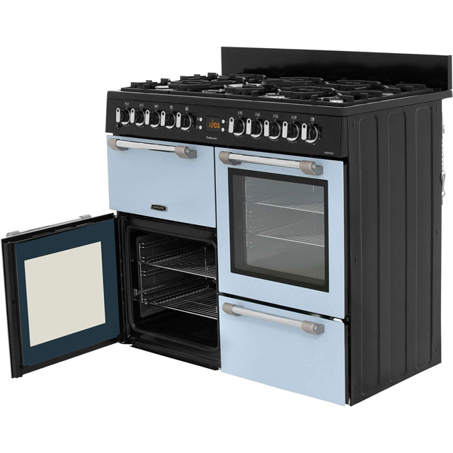 Leisure CK100F232S Cookmaster 100 100cm Dual Fuel Range Cooker - Silver - CK100F232S_SI - 3