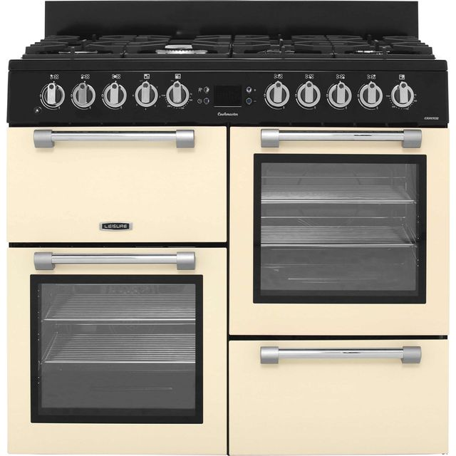 Leisure Cookmaster 100 CK100F232C 100cm Dual Fuel Range Cooker - Cream - A/A Rated - CK100F232C_CR - 1