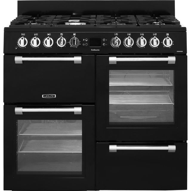 Image of Leisure Cookmaster 100 CK100F232K 100cm Dual Fuel Range Cooker - Black - A/A Rated