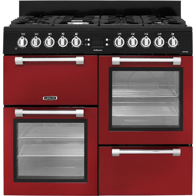 Leisure Cookmaster 100 CK100F232R 100cm Dual Fuel Range Cooker - Red - A/A Rated