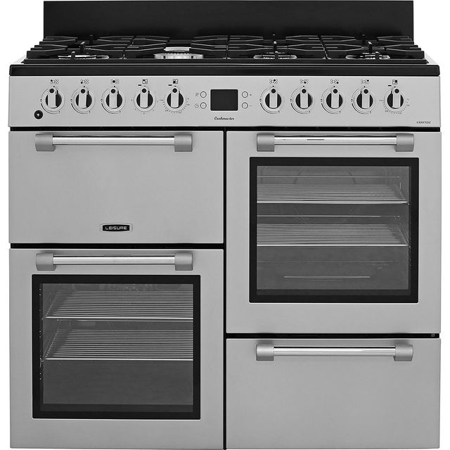 Leisure Cookmaster 100 CK100F232S 100cm Dual Fuel Range Cooker - Silver - A/A Rated - CK100F232S_SI - 1