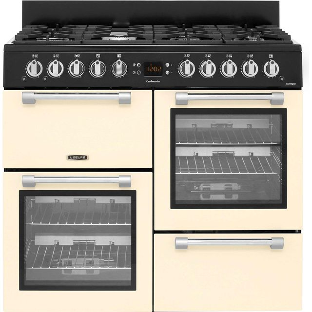 Leisure Cookmaster CK100G232C 100cm Gas Range Cooker - Cream - A+/A Rated - CK100G232C_CR - 1